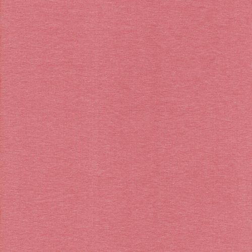 Tissu jersey BIO rose thé 95%cot/5%el larg 150cm