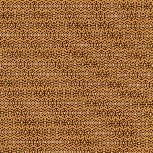 Tissu jersey graphique lurex fond jaune