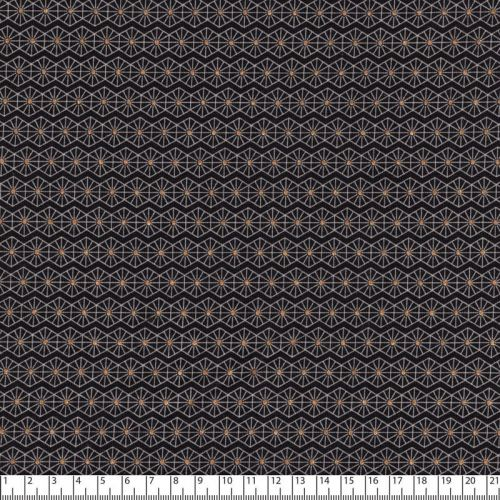 Tissu jersey graphique lurex fond noir