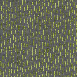 Tissu french terry Funky Stripes gris et jaune