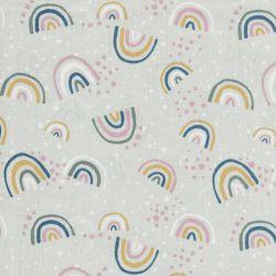 Tissu rainbow fd vert 100% coton larg 145cm