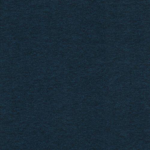 Tissu sweat chiné bleu pétrole