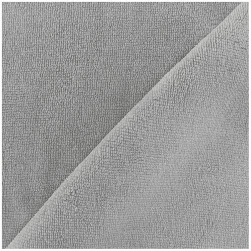 Tissu micro éponge gris 40%bamb/40%pol/20%cot larg 150 cm