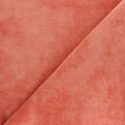 Tissu micro éponge marsala 40%bamb/40%pol/20%cot larg 150 cm