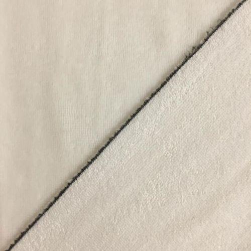 Tissu micro éponge écru 40%bamb/40%pol/20%cot larg 150 cm