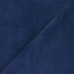 Tissu micro éponge indigo 40%bamb/40%pol/20%cot larg 150 cm
