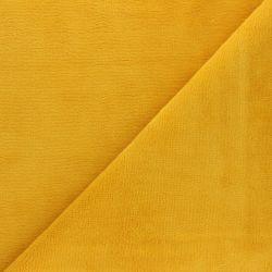 Tissu micro éponge moutarde 40%bamb/40%pol/20%cot larg 150 c