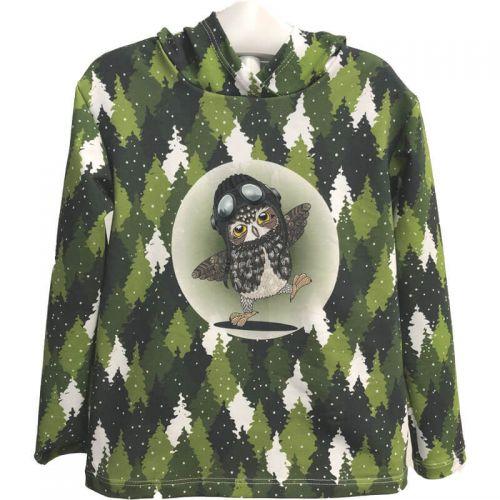 Tee shirt Hiboux vert