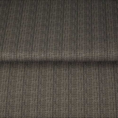 Tissu French terry effet tricot gris