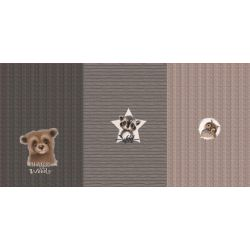 Panneau triple French terry all goods ours gris 75cmx150cm