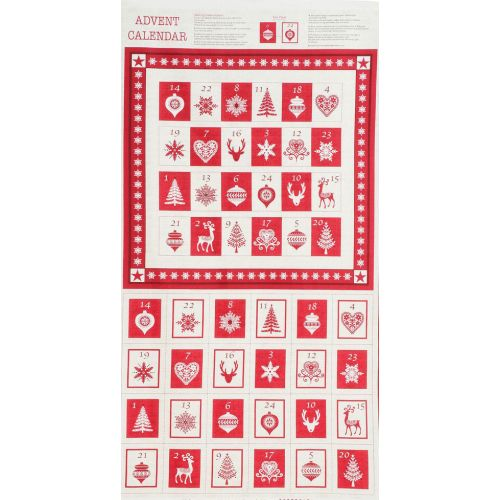 Panneau 60 cm X 110 cm calendrier avent ambiance scandinave