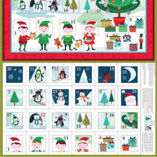 Panneau 60 cm X 110 cm calendrier avent Frosty pocket