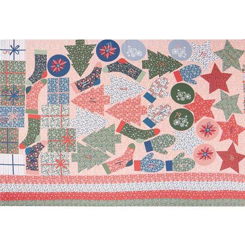 Panneau calendrier de l'avent formes Poppy 100% coton 100 x