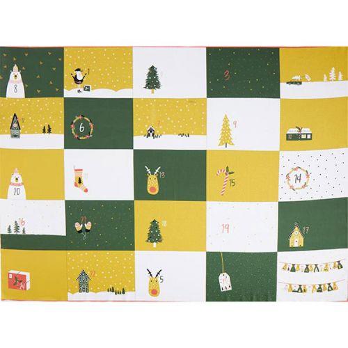 Panneau calendrier de l'avent sacs Poppy 100 cm X 140 cm