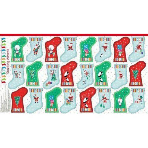 Panneau Jolly Santa 100%coton larg 115cm