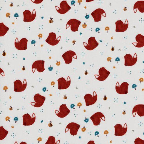 Tissu Fox friends CS 100% coton larg 110 cm