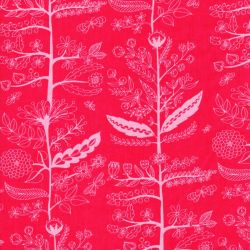 Tissu coton Charmed  fleurs fond rose Michael Miller