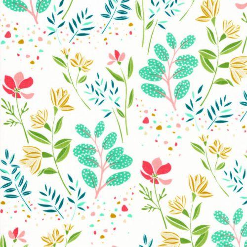 Tissu coton Awaken fleuris Michael Miller