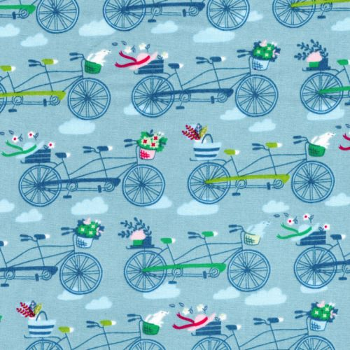 Tissu coton tand'aime  Michael Miller fond bleu