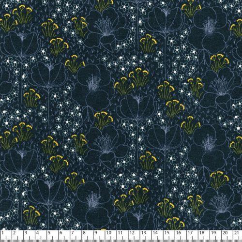 Tissu coton Meghan gris anthracite Cotton steel