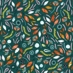 Tissu coton Hanging around vert Dashwood