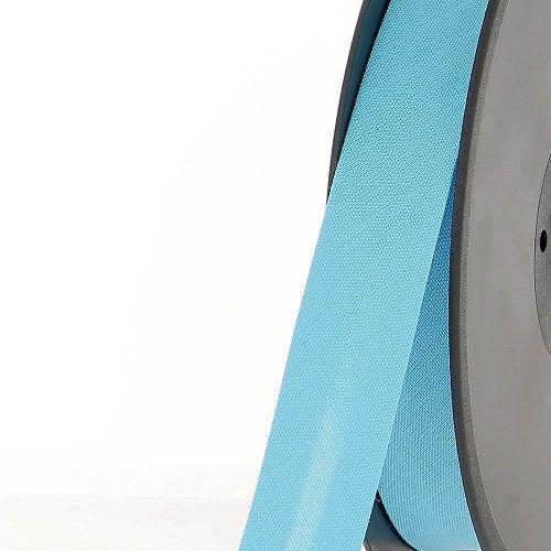Biais replié 20 mm 50 % coton/50 % poly bleu turquoise