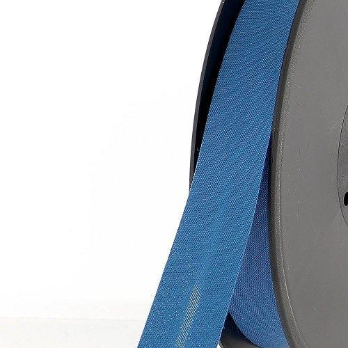 Biais replié 20 mm 50 % coton/50 % poly bleu paon