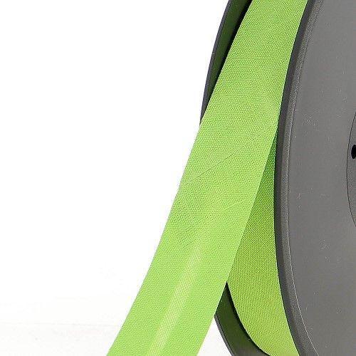 Biais replié 20 mm 50 % coton/50 % poly vert anis