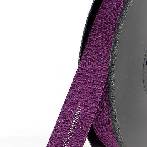 Biais replié 20 mm violet 50 %coton/50 %poly
