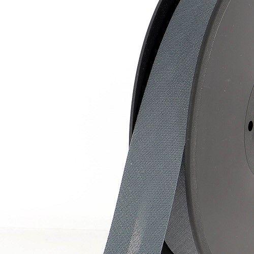Biais replié 20 mm gris 50%coton/50%pol