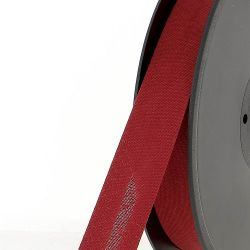 Biais replié 20 mm rouge 50 %coton/50 %poly
