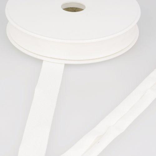Biais jersey blanc cassé 92%vi/8%el 20 mm