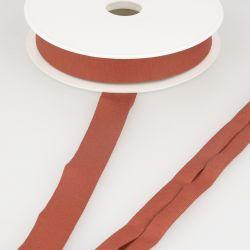 Biais jersey terracotta 92%vi/8%el 20 mm