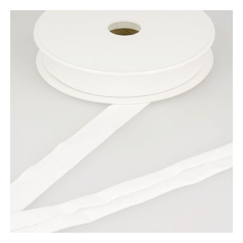 Biais jersey blanc 92%vi/8%el 20 mm