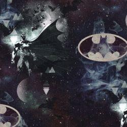 Tissu jersey Batman fond noir
