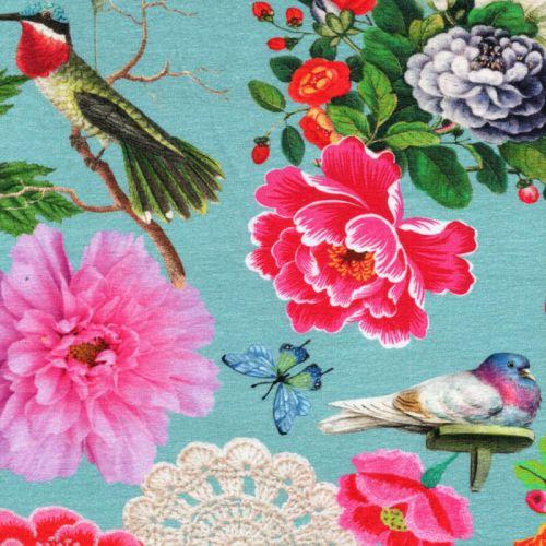 Tissu jersey Hapiness Botanica digital