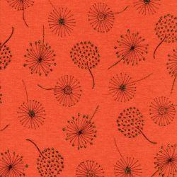 Tissu sweat dandelion or fond orange
