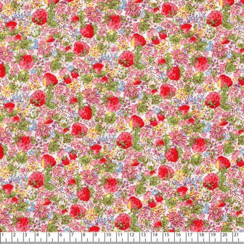 Tissu petites fleurs multicolores