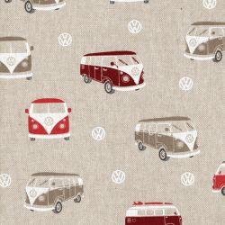 Tissu  vans rouges