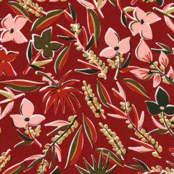 Tissu viscose Aloha fond terracotta