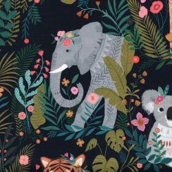 Tissu coton girafes, tigres, koalas