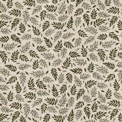 Tissu toile coton mélangé petit feuillage
