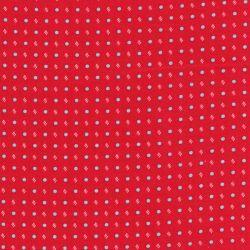 Tissu coton cravate fond rouge