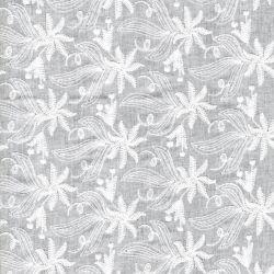 Tissu coton broderie anglaise grandes fleurs