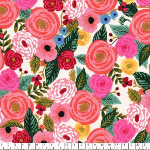 Tissu viscose Rifle Paper Co English garden fond rose