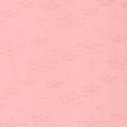 Tissu imperméable bateau rose