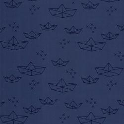 Tissu imperméable bateau bleu