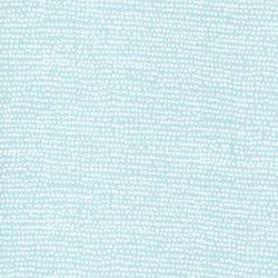 Tissu coton à pois fond bleu céladon Surf