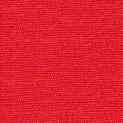 Tissu coton à pois fond rouge Flame