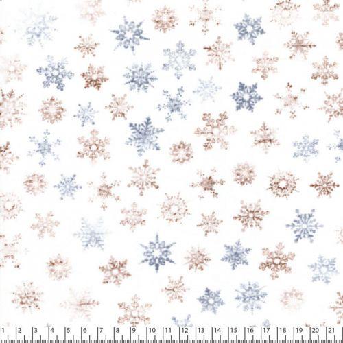 Tissu coton flocons de neige variés